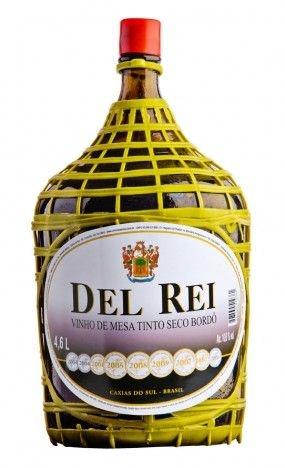 Vinho de Mesa - Del Rei Tinto Seco Bordô 4,6L