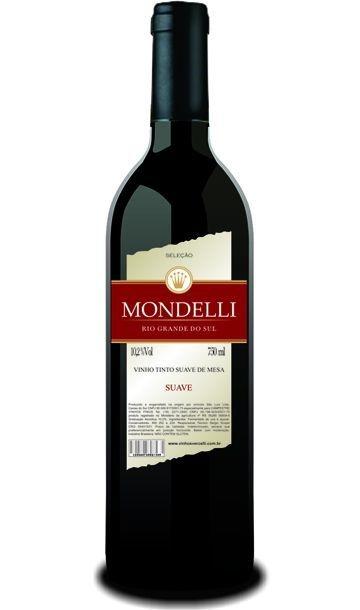 Vinho de Mesa - Mondelli Tinto Suave 750ml