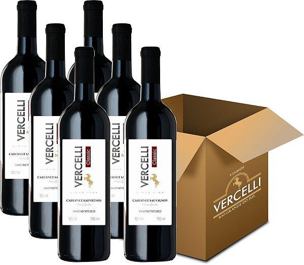 Vinho Fino - Vercelli Classic Tinto Seco Cabernet Sauvignon 6x750ml