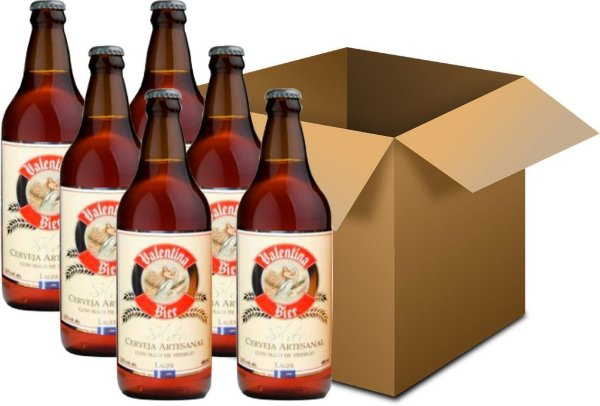 Cerveja Valentina Bier Silver 6x660ml - Fruit Beer