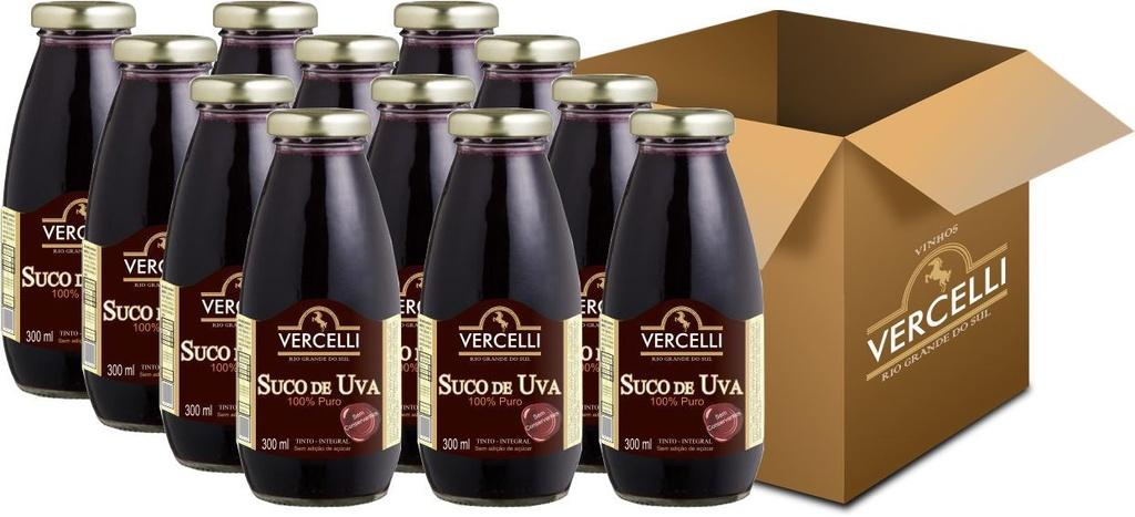 Suco de Uva - Vercelli Tinto Integral 12x300ml