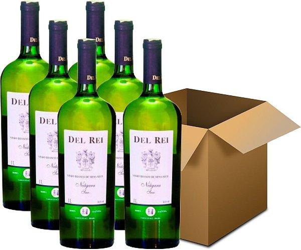 Vinho de Mesa - Del Rei Branco Seco Niágara 1L