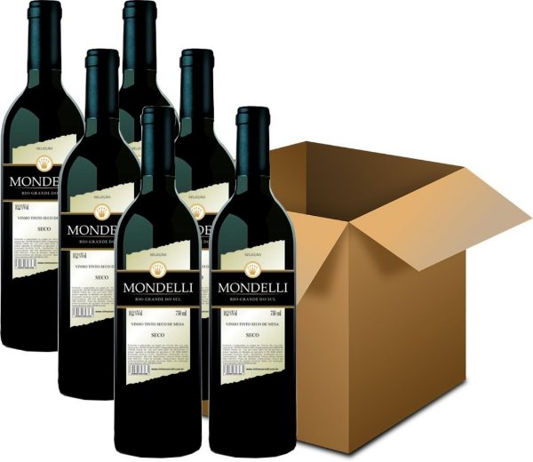 Vinho de Mesa - Mondelli Tinto Seco 6x750ml