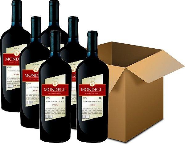 Vinho de Mesa - Mondelli Tinto Suave 6x1L