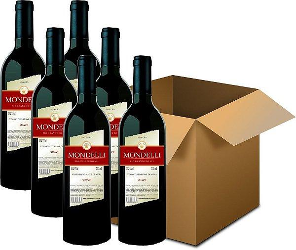 Vinho de Mesa - Mondelli Tinto Suave 6x750ml
