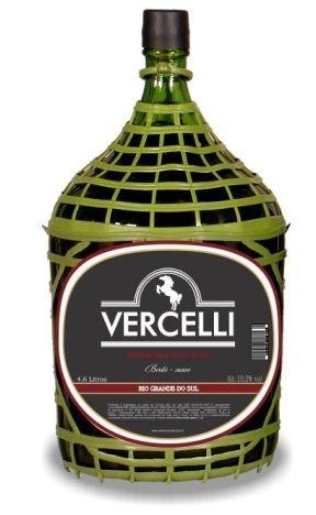 Vinho de Mesa Vercelli Tinto Suave Bordô 4,6L