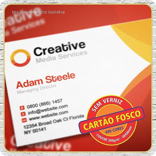 Cartão Fosco ( Sem Verniz ) - 4X0
