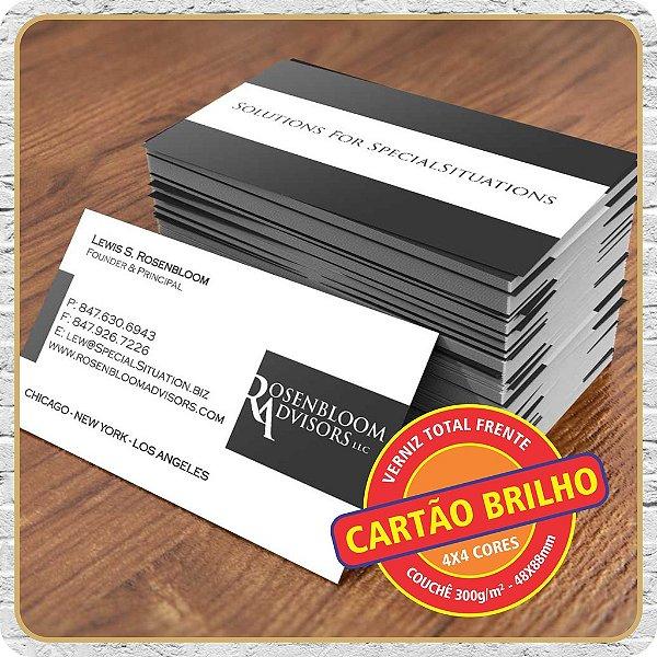 Cartão Brilho ( Com Verniz ) - 4X4
