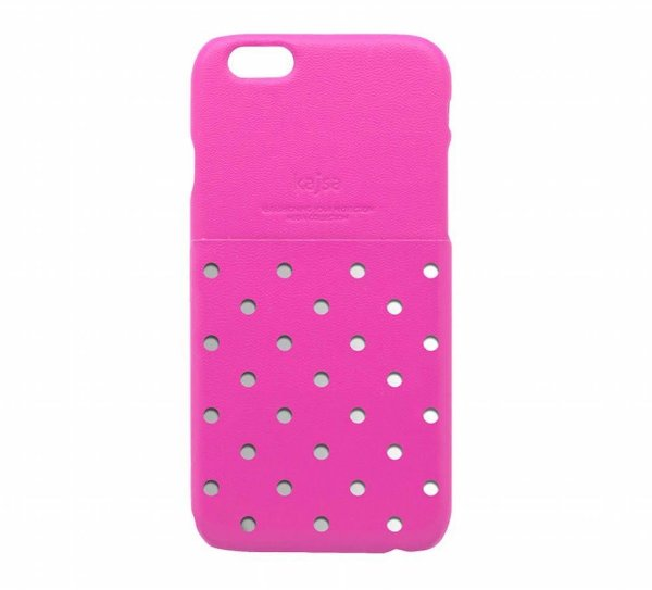 Capa iPhone 6s e iPhone 6   Neon Collection Polka Dot com bolso traseiro