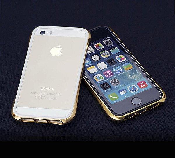 Capa Bumper Ouro 24k para iPhone SE e iPhone 5s - Kit com 6 peças em Caixa Luxo LIMITED EDITION