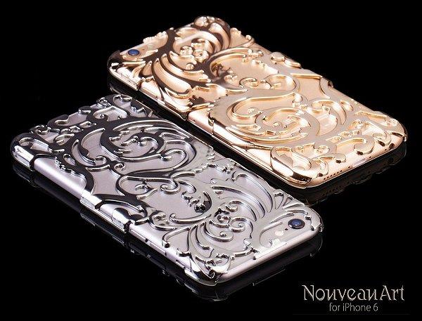 Capa dourada iPhone 6s e iPhone 6 (tela 4,7) | nouveau art