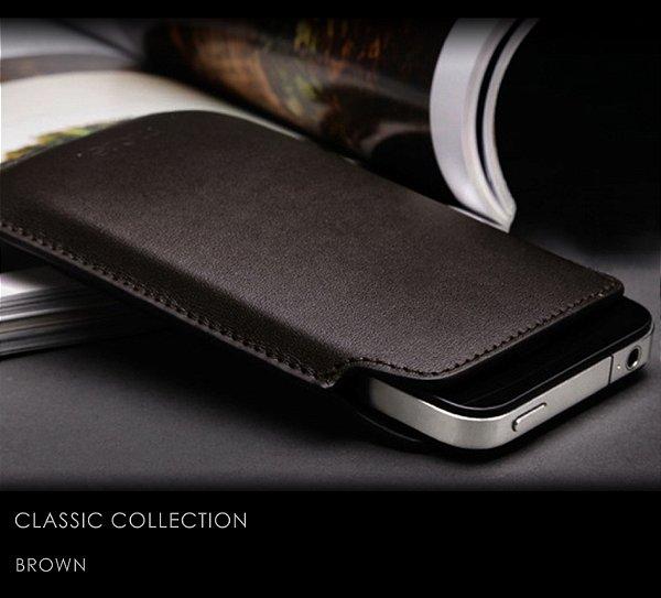 Capa Couro para iPhone 4s 4 | Classic Collection + Películas