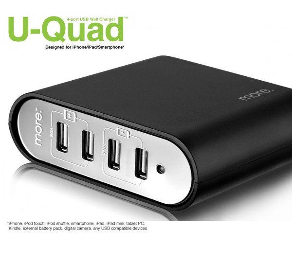 HUB USB 4 portas Carregador estabilizado - U-Quad 4-port Wall Charger