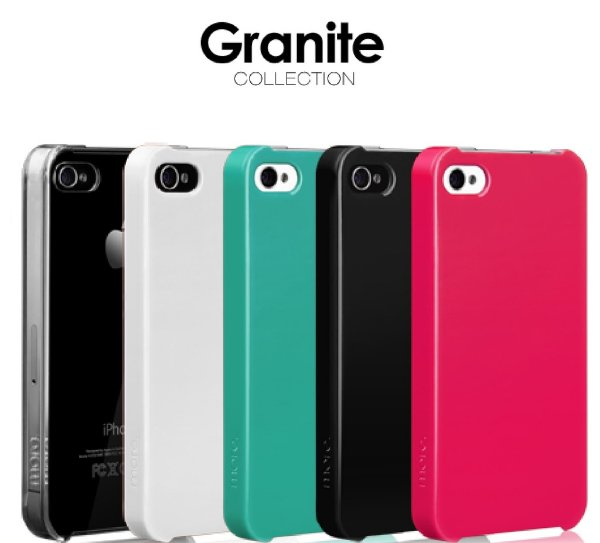 GRANITE Collection - Capa ultra fina para iPhone 4S + Película