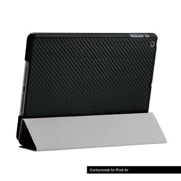 CAPA FLIP IPAD AIR 1 | CARBONLOOK SERIES | PRETA