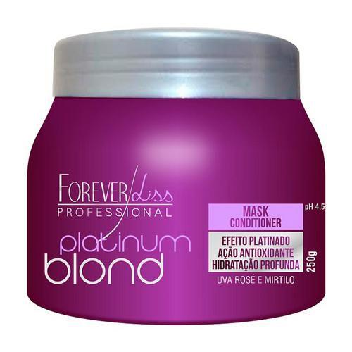 Máscara Matizadora Platinum Blond Manutenção Uso Diário 250g Forever Liss