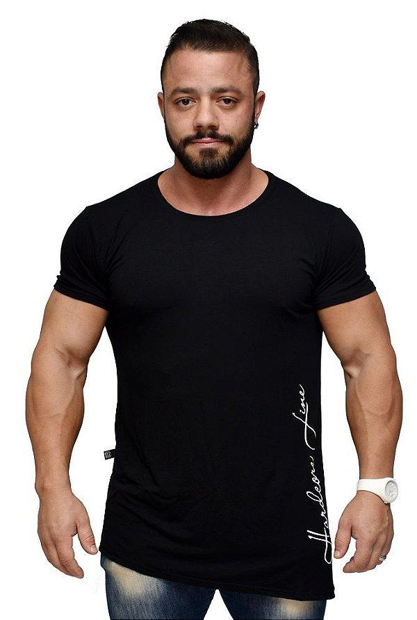 Camiseta Larger Side Black - Hardcore Line