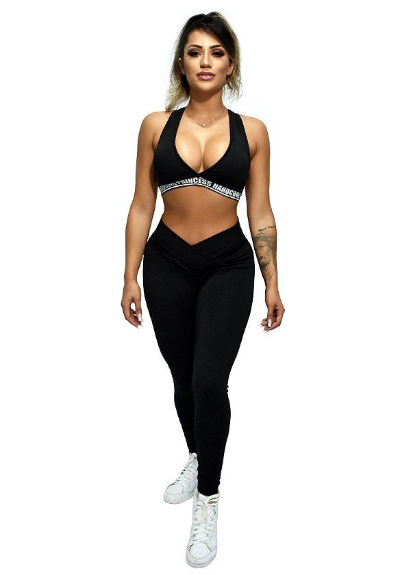 Legging Feminina Hardcore Princess Line - Black