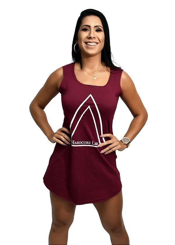 Vestido Triangle Hardcore Line Bordô