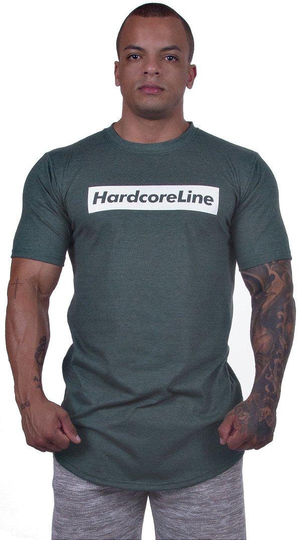 Camiseta Verde Mesclada - Hardcore Line