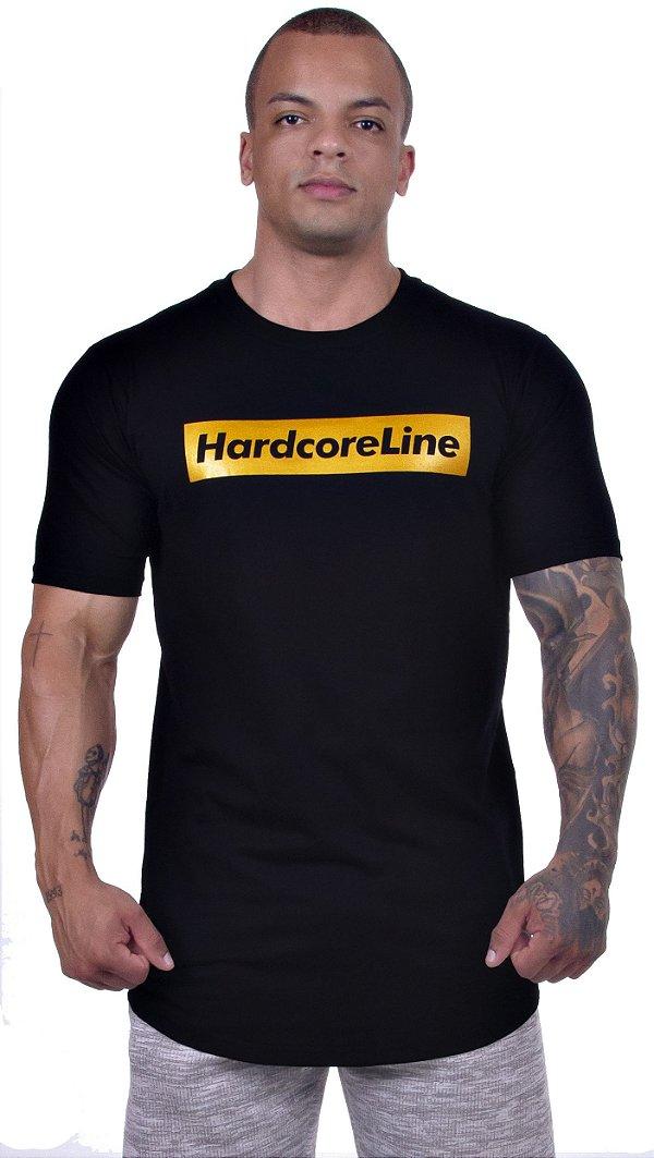 Camiseta Preta Gold - Hardcore Line