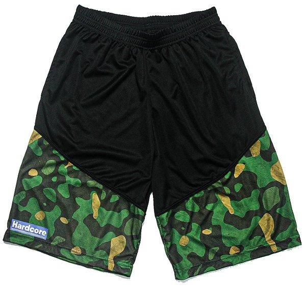 Bermuda Dry Fit Hardcore Line - Camuflado Militar