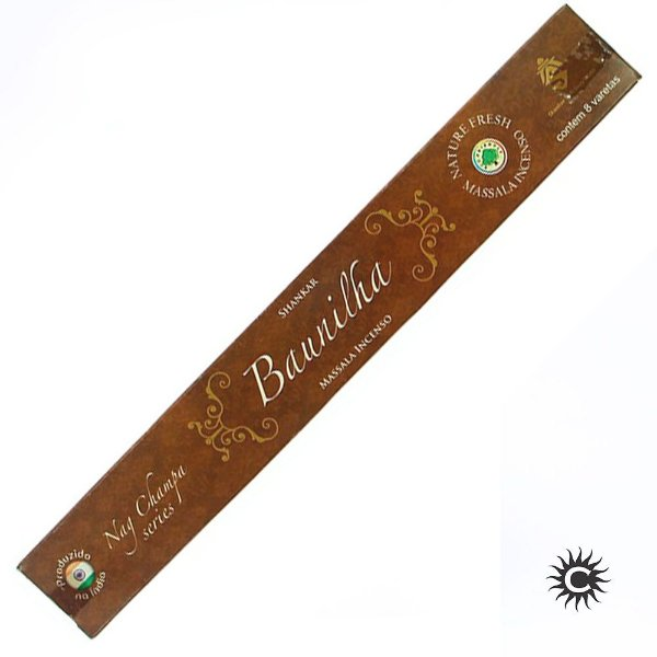 Incenso - SHANKAR - Massala - Caixa com 8 varetas - BAUNILHA