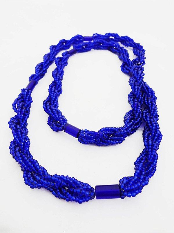 Brajá - 6 Fios - Transparente - Azul Escuro Brilhante