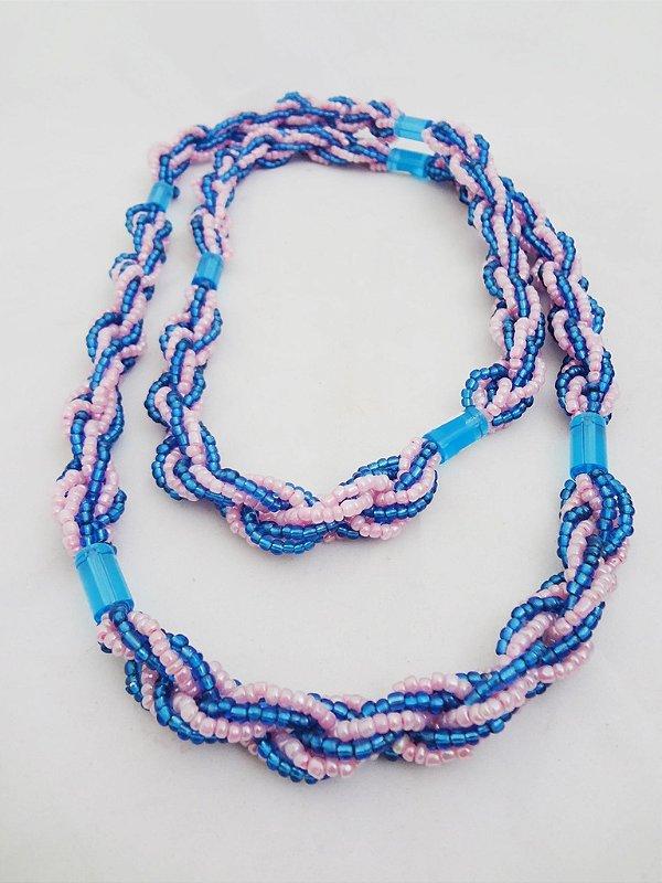 Brajá - 6 Fios - Opaco - Rosa e Azul