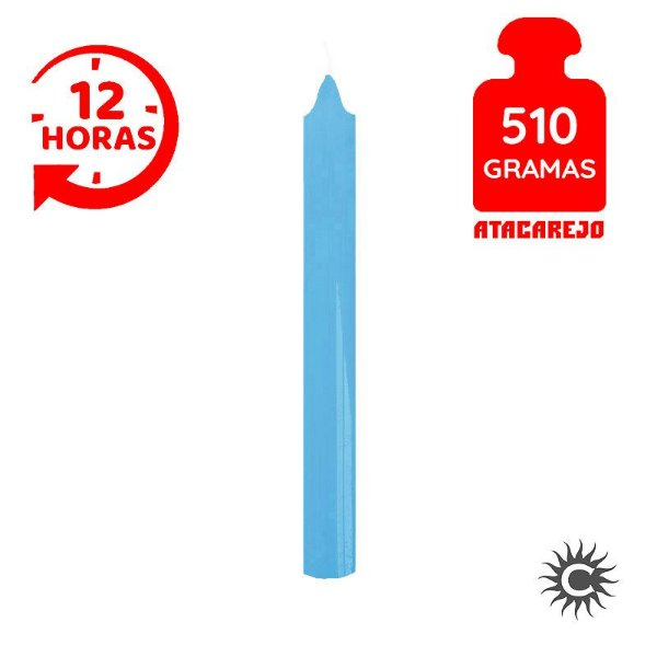 Vela - 12 horas - 510G - Azul Claro