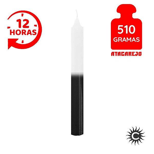 Vela - 12 horas - 510G - Branco e Preta