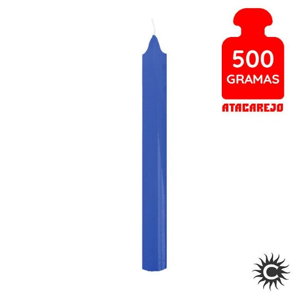 Vela - Palito - 500G - Azul Escura