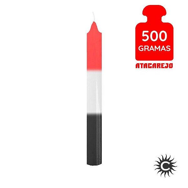 Vela - Palito - 500G - Especial - Branca,Vermelha e Preta