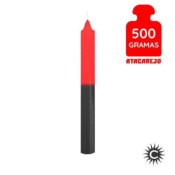 Vela - Palito - 500G - Vermelha e Preta