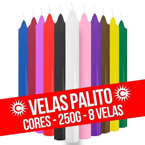 Vela - Palito - 250G - Cores