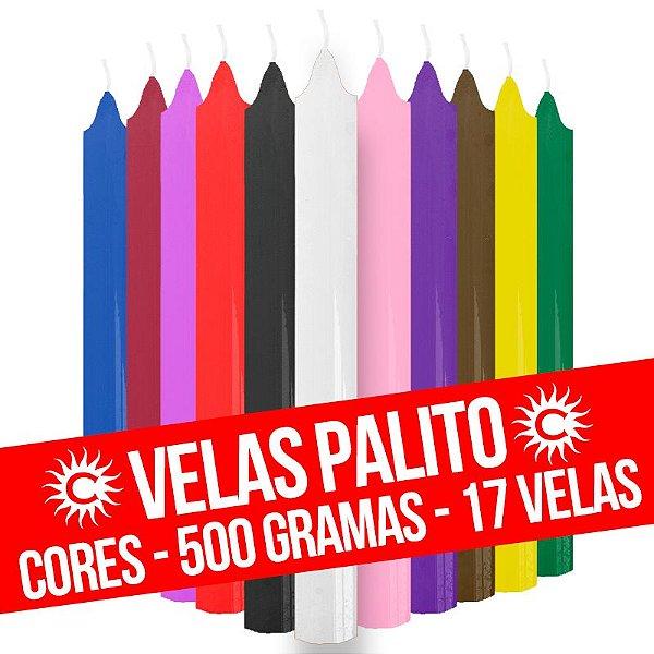 Vela - Palito - 500G - Cores