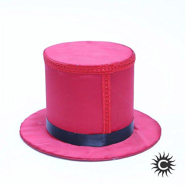 Cartola - Luxo - Alta - Veludo - Vermelha