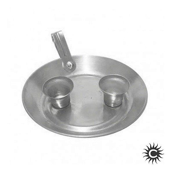 Castiçal - Porta Velas - Alumínio - 2 velas