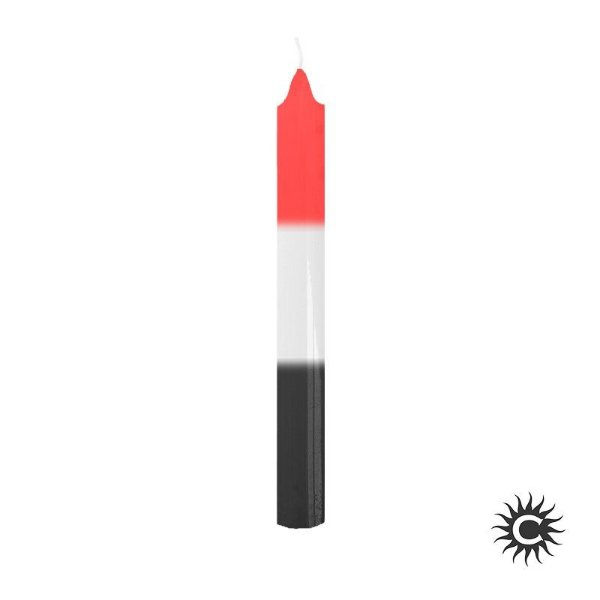 Vela - Palito - Branca,Vermelha e Preta