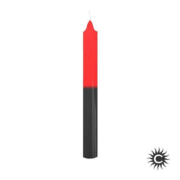 Vela - Palito - Vermelha e Preta