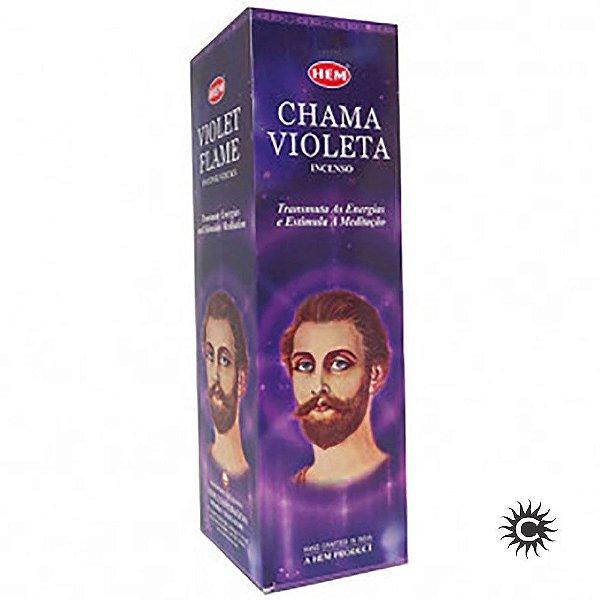 Incenso Hem - CHAMA VIOLETA  - BOX com 25 caixas