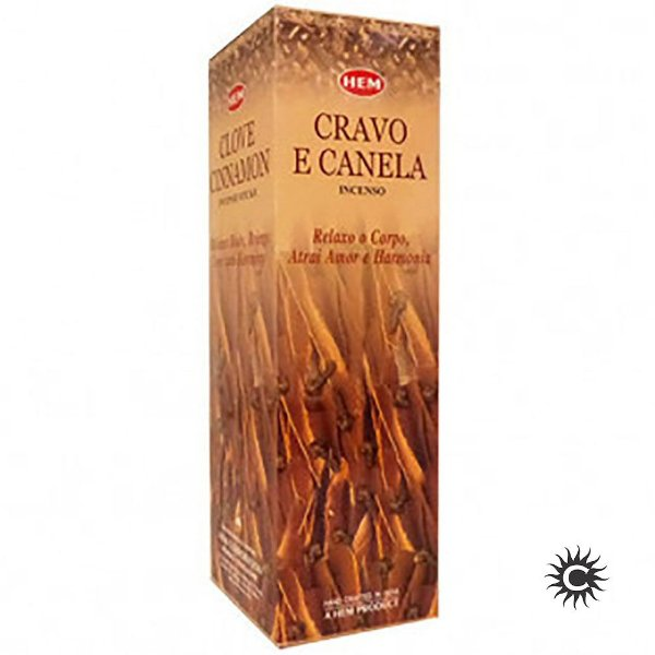 Incenso Hem - CRAVO E CANELA  - BOX com 25 caixas
