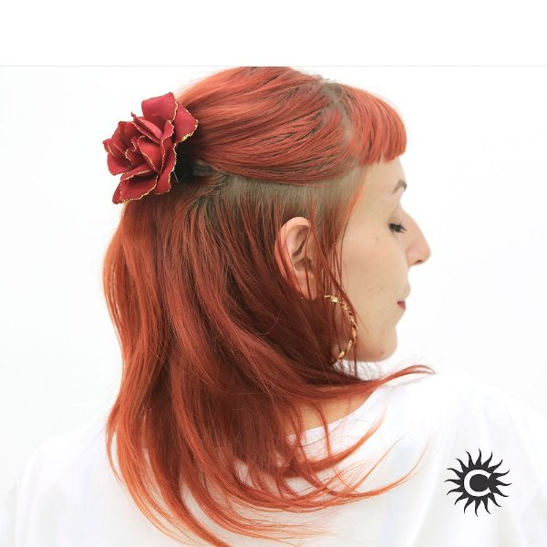 Rosa para Cabelo - Vermelha - Pomba-Gira, Cigana ou Malandra