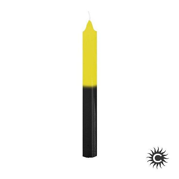 Vela - Palito - Amarelo e Preta