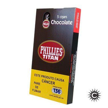 Charuto - PHILLIES Titan Chocolate 50 Unidades - Fardo com 10 caixas.