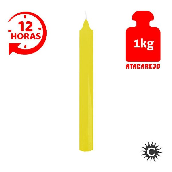 Vela - 12 horas - Kilo - Amarela