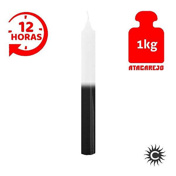 Vela - 12 horas - Kilo - Branca e Preta