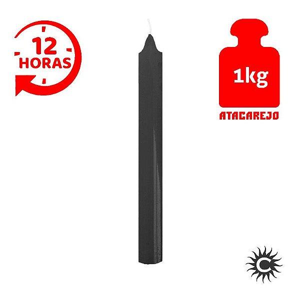 Vela - 12 horas - Kilo - Preta