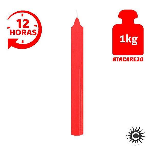 Vela - 12 horas - Kilo - Vermelha