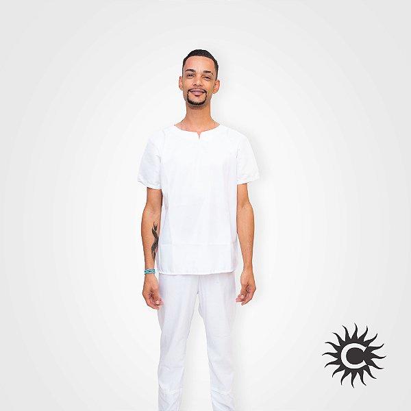Conjunto Micro Fibra - Branco Masculino   Tamanho G